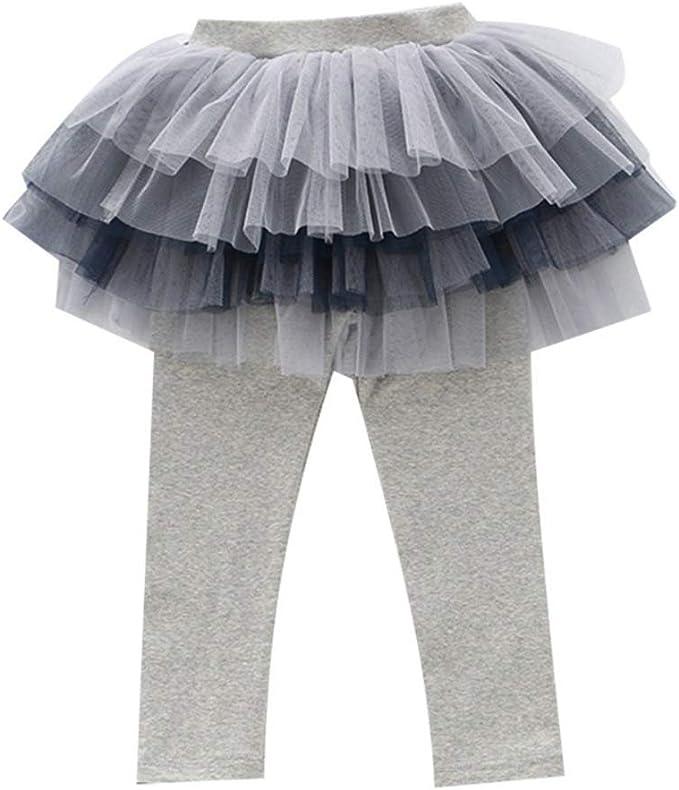 Hongyuangl Niños Bebé Niña Algodón Tramo Pantalones Tutu Falda ...