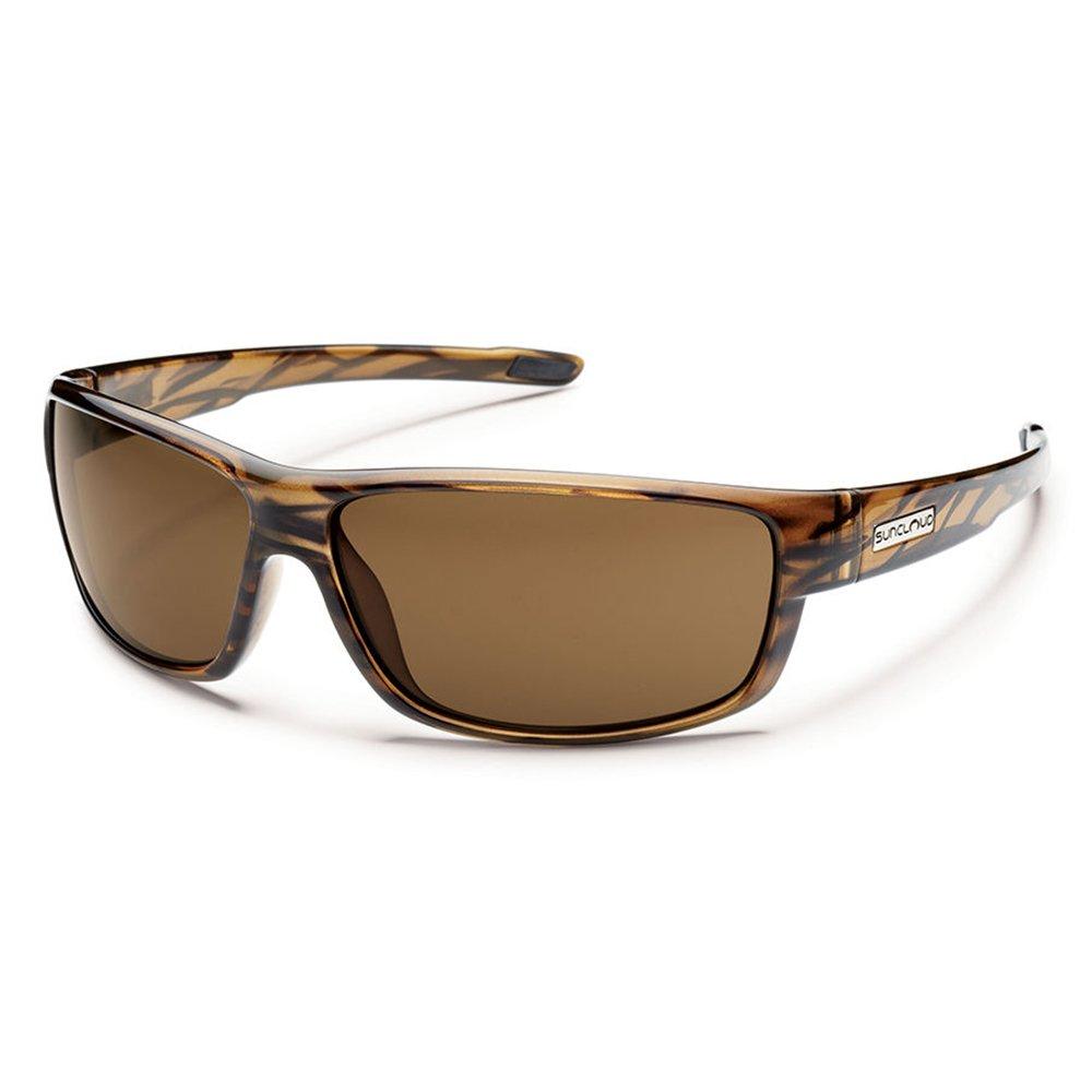 Suncloud Optics Voucher Polarized Sunglasses(Brown Stripe,Brown Polarized) by Suncloud