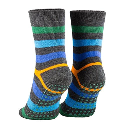 Sportliche ABS ANTI-RUTSCH-Socken f/ür KINDER Trampoline Atmende BAUMWOLLE Gr/ö/ßen: EU 24-29 i 30-35 Glatter Fu/ßboden Kampfsport f/ür Jungen und M/ädchen Made in EUROPA Yoga Tanzen Gymnastik