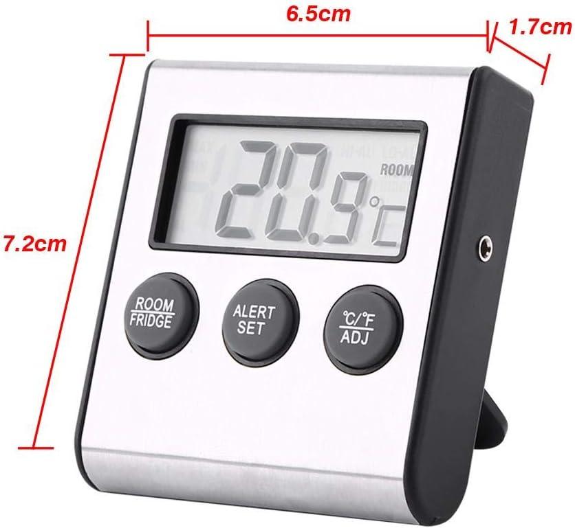 Record Minimo e Massimo termometro Digitale per congelatore Nuovo termometro per Frigorifero Magnete e Supporto per casa Display LCD Allarme con sensore Sala Interna ristoranti.