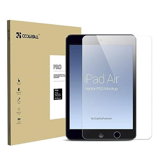 Coolreall ガラスフィルムiPad Air/Air2/Pro9.7インチ用 液晶保護 フィルム 高透明・防爆裂・スクラッチ防止・気泡ゼロ・指紋防止対応クリア(9H 0.33mm 2.5D)