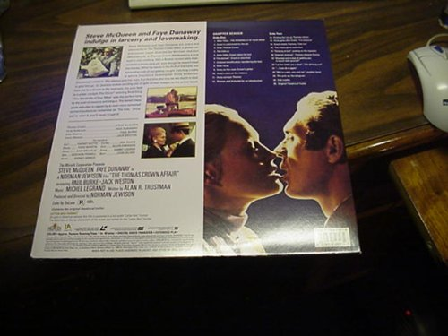 Laser Disc, Laserdisc of Steve McQueen In The Thomas Crown Affair, Deluxe Letter-Box Edition.