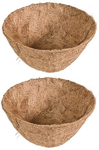 Panacea Products 88593 16'' Round Pre-Formed Coco Fiber Hanging Basket Liner - Quantity 2 by Panacea Products