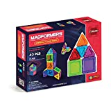 Magformers Rainbow Solids Clear 40 Piece Set