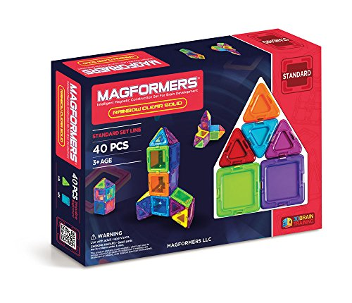 MAGFORMERS Solids Clear Rainbow Playset