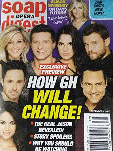 Soap Opera Digest Magazine - December 4, 2017 - Rebecca Herbst, William deVry, Laura Wright, Steve Burton, Kelly Monaco, Billy Miller & Maurice Benard (General Hospital)