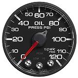 Auto Meter P525328 Pro-Nascar 2-1/16'' Oil Press, 0-120 Psi, BFB, ECU, Spek