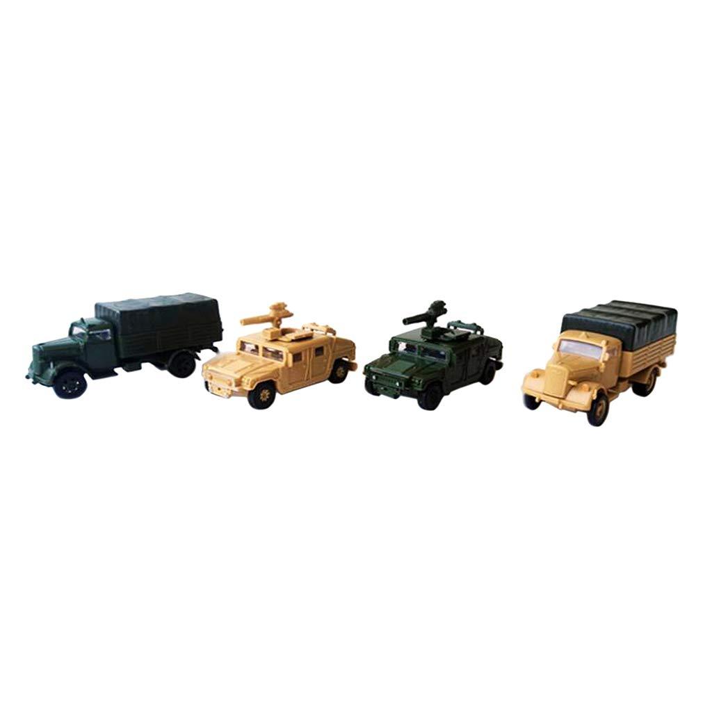dailymall Milit/ärfahrzeug Modell 4D LKW Modell 1:72 Kunststoff Schwerlastwagen