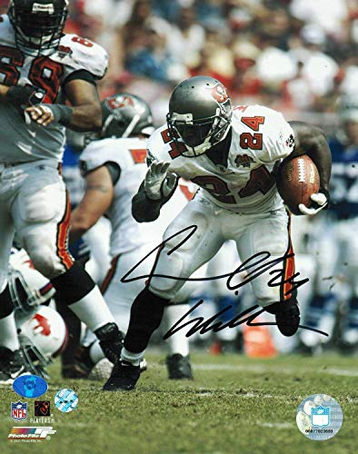 Carnell 'Cadillac' Williams Tampa Bay Buccaneers Autographed 8x10 Photo Turning the Corner - Signed NFL Photos ()