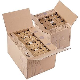 Propac z-wine6s caja para envío de botellas, 40 x 27 x 30 cm, pack ...
