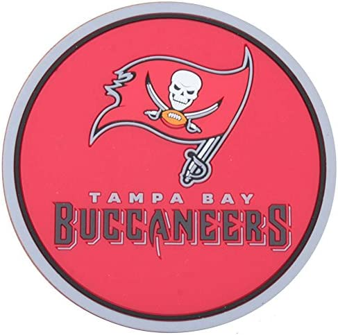 Non-Slip Buccaneers Rubber Cup Mats for Mugs Dining Tables Desks Office Party Fit Buccaneers 4Pcs Fit Tampa Bay Buccaneers Silicone Coaster for Drink