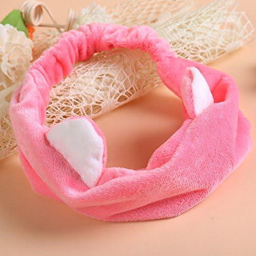 Generic rosa: nuevo diseño de orejas de gato pelo toalla turbante ...
