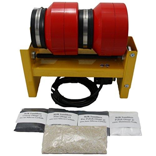 MJR Tumblers Dual Barrel 12 LB Rock Tumbler with Grit Kit by MJR Tumblers (Image #9)