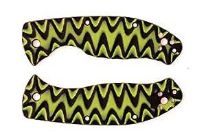 Multicolor G10 Scales for Spyderco Tenacious (Yellow-Black)