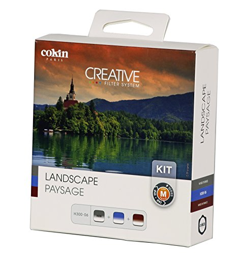 Cokin P Series H300-06 Soft-Edge Landscape Graduated Neutral Density Kit, Includes GND8 0.9 Soft Filter, Gradual Blue 0.5 Soft Filter, Gradual Tobacco 0.9 Soft Filter