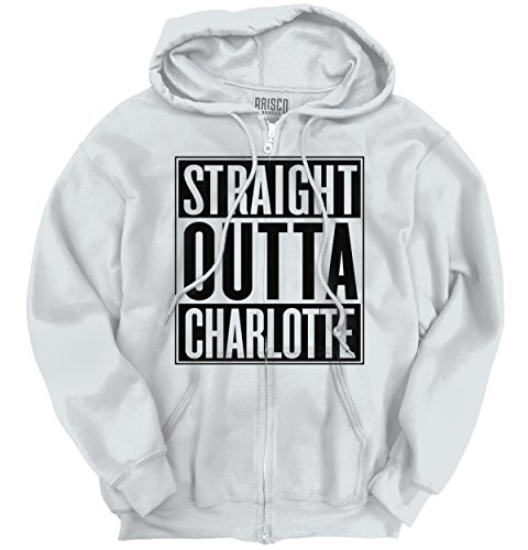 Classic Teaze Straight Outta Charlotte, NC City Movie T Shirts Gift Ideas Zipper - Of Nc Rock Blowing City