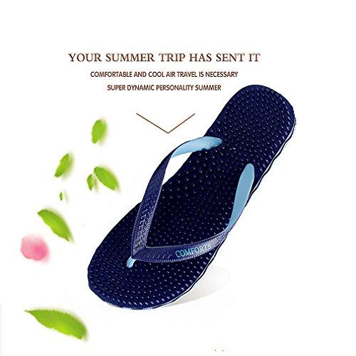 Sandals Beach Massage Shoes Thong Men's Summer GEXKO Blue Slippers Flip Flop q88OYt