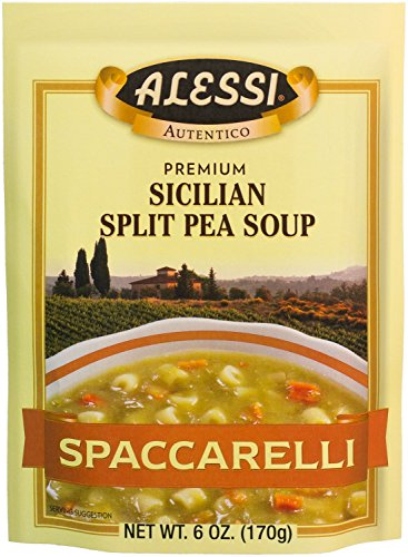 Alessi Split Pea Soup, 6-Ounce Packages (Pack of 6) (Split Pea)