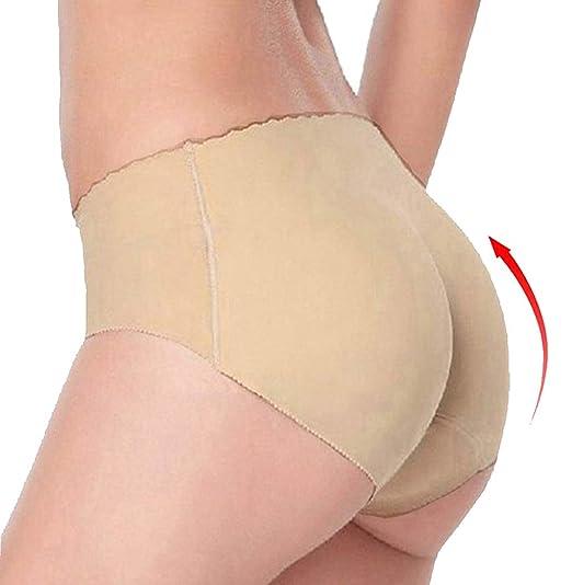 082a8229ed28 LYZ Women Sponge Butt Padded Underwear Shaper Briefs Fake Ass Shapewear  Beige