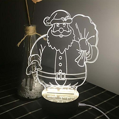 Comics+3D+Night+Lamp+ Products : Ancaixin Santa Claus 3D Optical Illusion Lamp Nightlight USB Touch Button LED Desk Table Warm Light