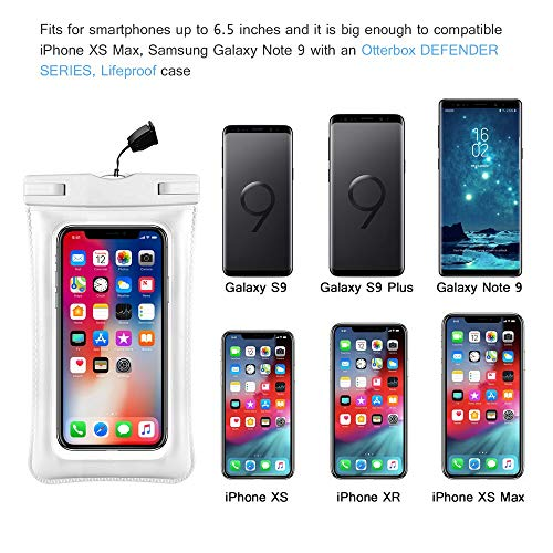 Universal Waterproof Case, IFCASE IPX8 Floating TPU Phone
