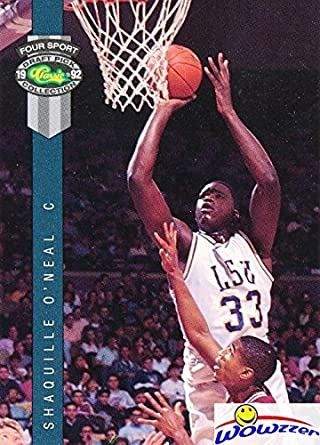 Shaquille Oneal 1992 Classic Four Sports 1 Rookie Card In