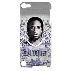 Personalized The FA Premier League Design Chelsea Football Club Cell Phone Case Customized 3D Hard Back Case Cover for Ipod Touch 5th Generation with Didier Drogba Mark