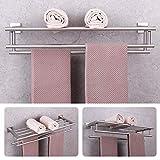 GERZWY Bathroom Lavatory Towel Rack Towel Shelf