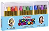 Kangaroo's Face Paint and Body Crayons - 12 Colors - Safe & Non-Toxic