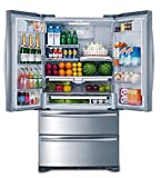 Smad 36' French Door Refrigerator 4 Doors Freezer Stainless Steel with...