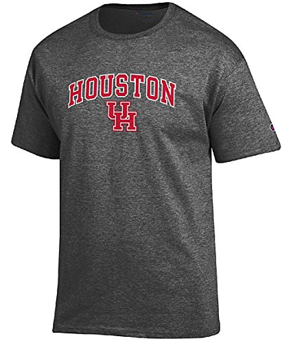 Champion Houston Cougars Granite Heather Campus Short Sleeve Tee Shirt - Cougars Practice Football T-shirt