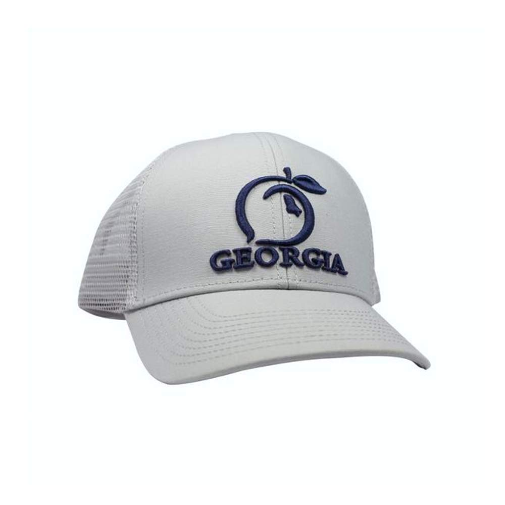 pretty nice 15265 67cf1 Peach State Pride Georgia Mesh Back Trucker Hat Ash Gray at Amazon Men s  Clothing store