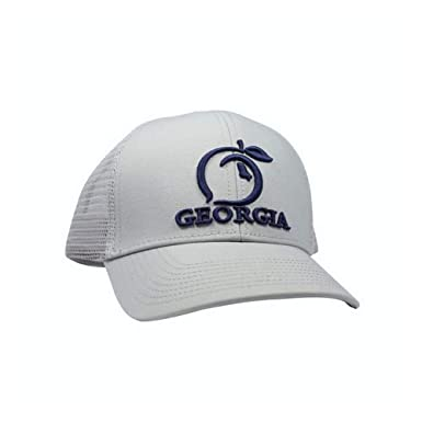 f915d1577ff7fa Peach State Pride Georgia Mesh Back Trucker Hat Ash Gray at Amazon ...
