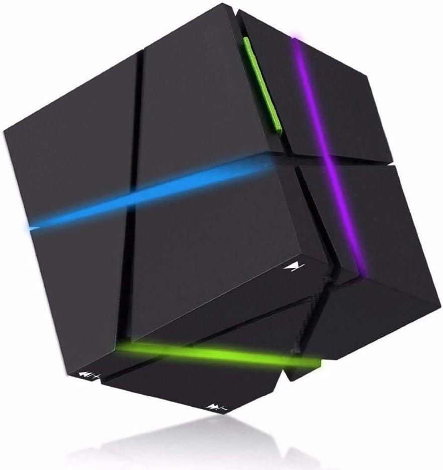 Altavoz Bluetooth portátil HiFi Cubo LED Altavoz Altavoces estéreo Estéreo súper bajo Caixa de Som Caja de Sonido Manos Libres para teléfono, Rosa: Amazon.es: Electrónica