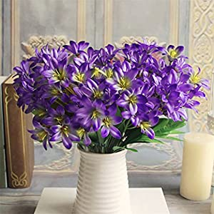 super1798 Lovely Artificial Lily Flower Bouquet Home Wedding Decor 79
