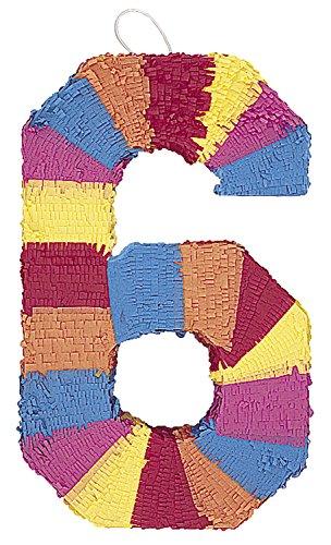 Unique 6676 Multicolor Number Pinata