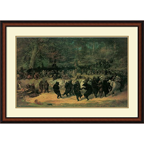 Framed Art Print, 'The Bear Dance' by William Beard: Outer Size 40 x 28'' by Amanti Art
