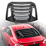 Danti Fits Toyota 86 Scion FR-S Subaru BRZ Rear Window Louver Rain Sun Guard Wind Deflector Rear Window Louvers 2013-2019