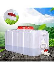WHEAT Grado Alimenticio Grande de Agua del hogar del Tanque portátil de Alimentos Horizontal Cubo del Tanque de Agua del Coche con la Cubierta de la válvula y se Utiliza para riego, Viajes
