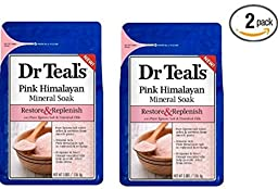 Dr Teal\'s Restore & Replenish Pure Epsom Salt & Essential Oils Pink Himalayan Mineral Soak 48 oz Dr. Teal\'s (Pack of 2)