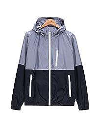 Shuoquan Men's Lightweight Jacket Flash Forward Windbreaker