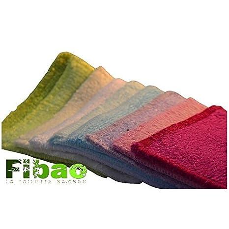 7 toallitas desmaquillantes de bambú FIBAO: Amazon.es: Salud y cuidado personal