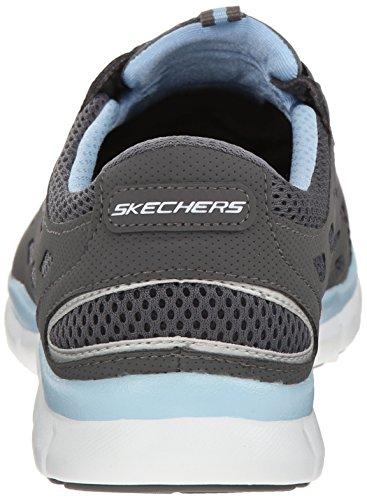 Skechers Sport Vrouwen Gratis Bungee Mode Sneaker Houtskool / Lichtblauw