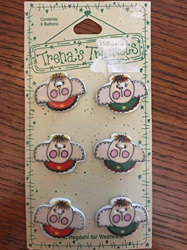 (Trena's Trinkets Adorable Detail 6 Porcelain Buttons School Theme Back to School!)