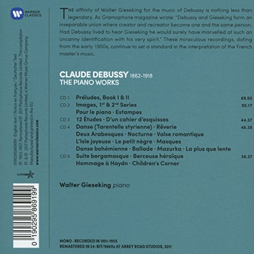 Debussy: The Complete Piano works (5CD) by Warner Bros. (Image #1)