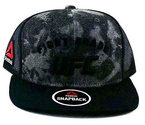 ffa33f89 Reebok UFC New MMA Fight Grade Black Gray Mesh Trucker Era Snapback Hat Cap