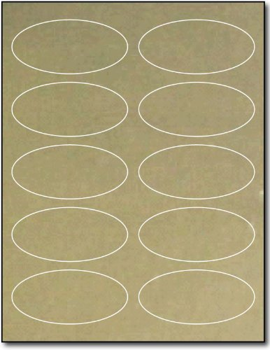 Oval Gold Foil Labels 1 3/4 x 3 3/4