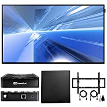 Samsung Dm-E Series 55 1920x1080 Slim Direct-Lit LED Commercial Display (DM55E) with Broadcast HDTV 2-Tuner, Indoor Multi-Directional Antenna & Wall Mount Kit Ultimate Bundle for 32-60 inch TVs