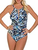 Magicsuit Women's Sea Glass Kat One Piece High Neck Swimsuit Blue 8