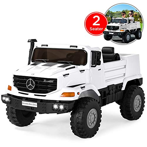 Best Choice Products Kids 24V Licensed Mercedes-Benz Ride-On with Lights/Sounds, Radio, Trunk, White